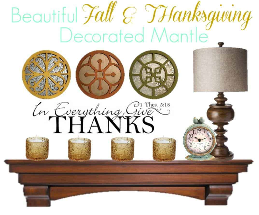 Design and decorate your fall mantle using our fantastic fall and thanksgiving home decor ideas. Create a chic look in minutes!