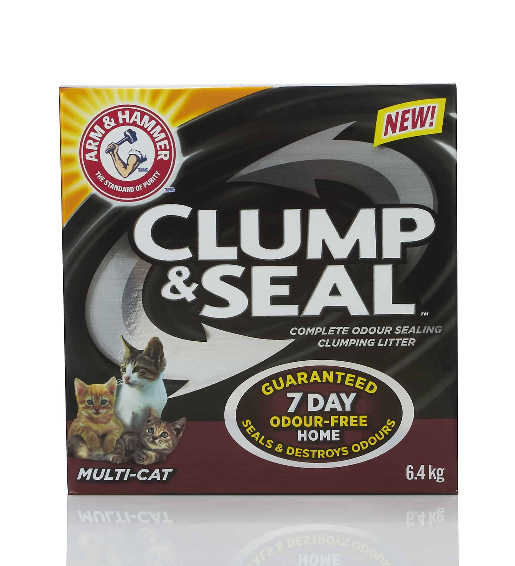 This revolutionary formula seals and destroys odours before they can leave the litter box.