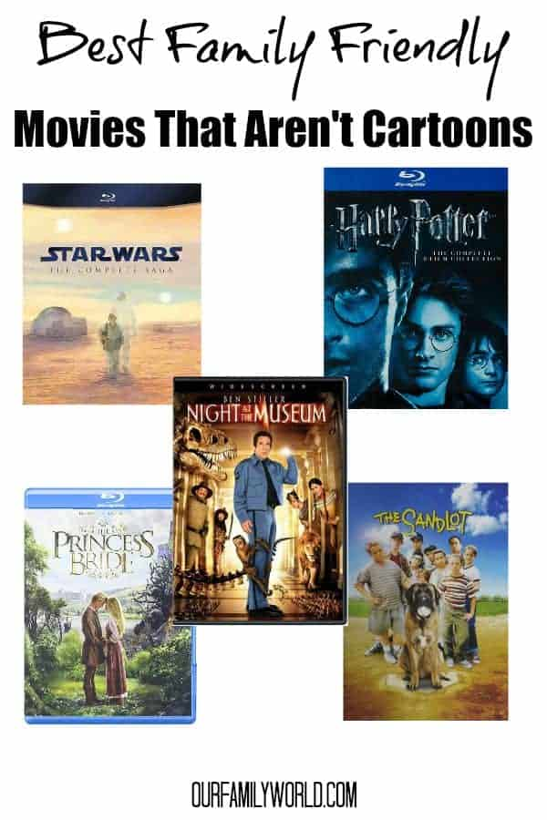 Looking for good family movies of the non animated variety? Check out our favorite family films that aren't cartoons!