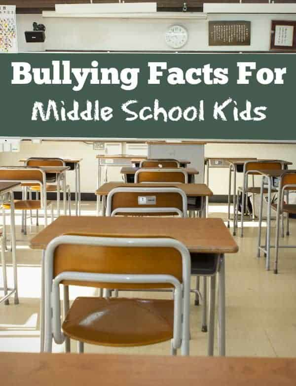 These bullying facts for middle school kids will help you as their parent stay on your toes. Take the time to really reach out and communicate with your kids on a regular basis so they know you are there for them.