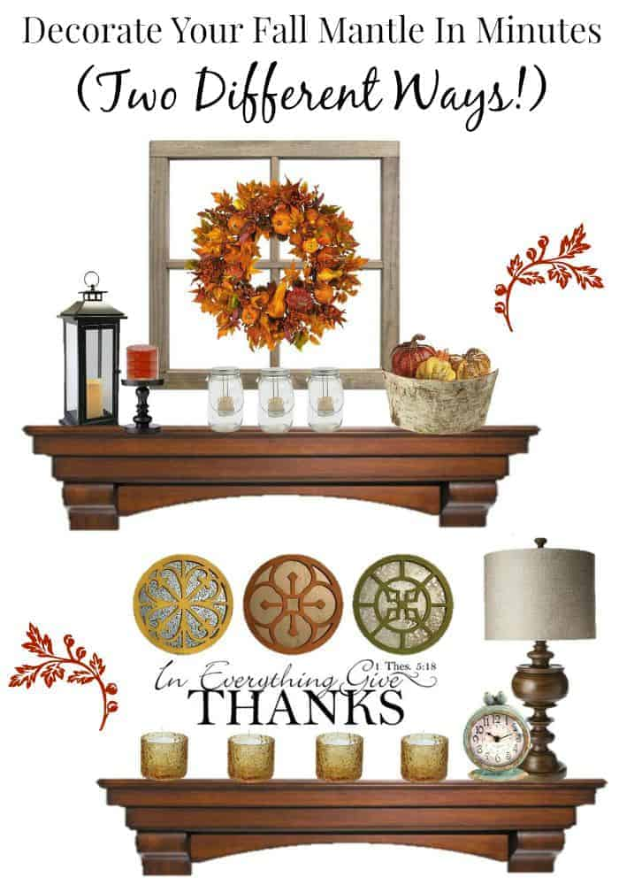 Design and decorate your fall mantle using our fantastic fall decor and thanksgiving home decor ideas. Create a chic Autumn decor look in minutes!