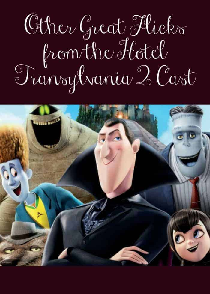 Looking for other movies the cast of Hotel Transylvania 2 have played in? You're in luck! This ensemble has a HUGE portfolio of amazing films!