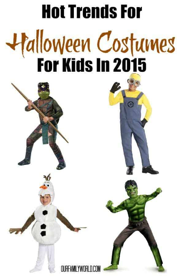 Looking for the hottest new trends in Halloween costumes for kids in 2015? Look no further than our list of all the coolest characters from every hit movie!