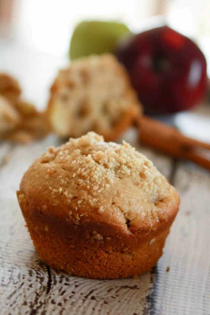 Looking for a delicious apple muffin recipe for kids to use up all those ripe, red apples from your fall harvest? Check out this tasty recipe! Your kids will eat it up!