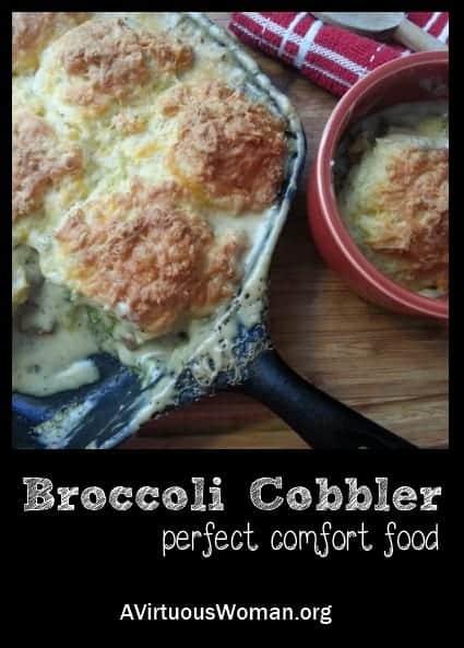 broccoli-cobbler vegetarian meal for large families