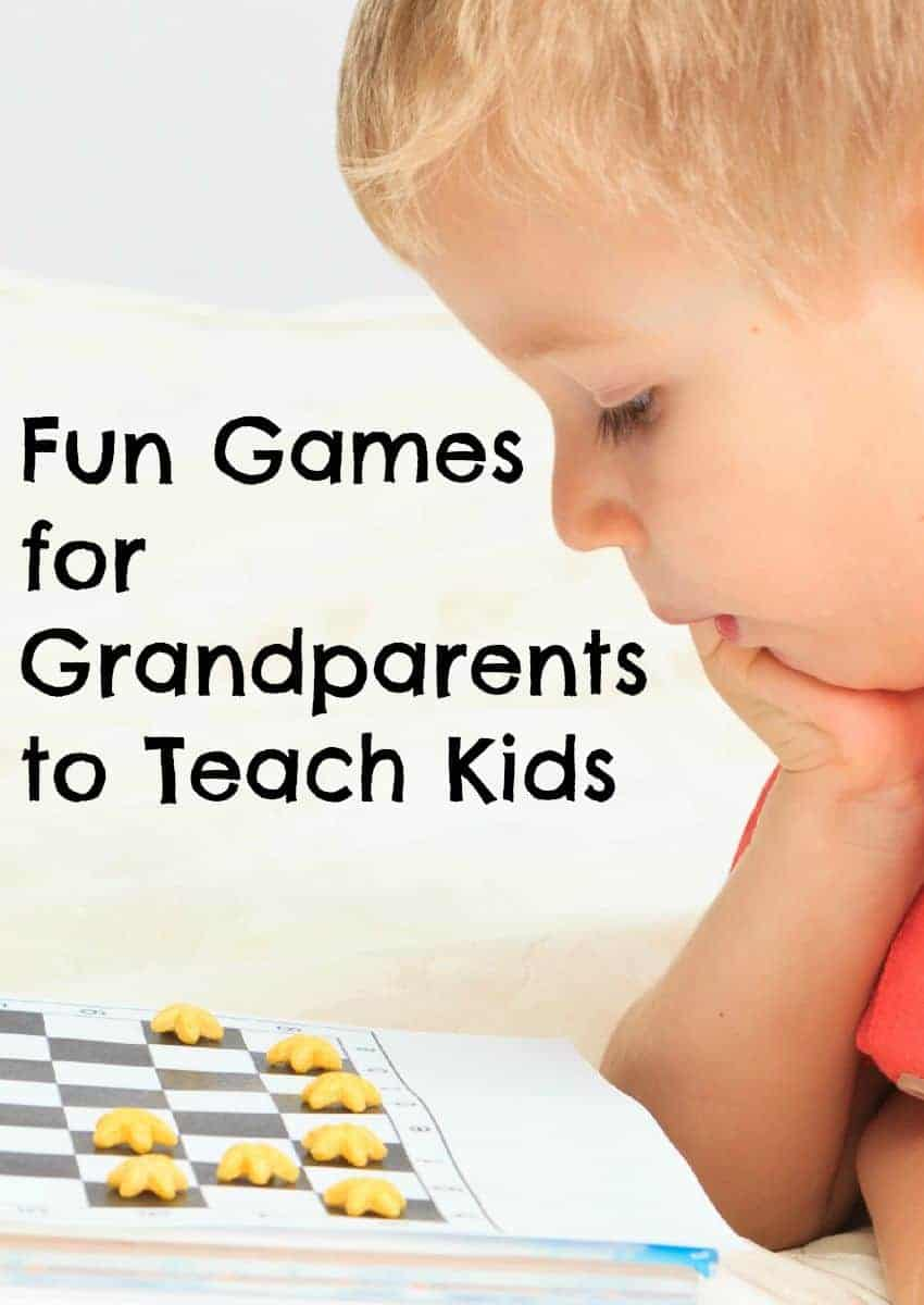 Prevent boredom when your kids get together with your parents by asking the elders to play some of these great games for grandparents to teach kids!