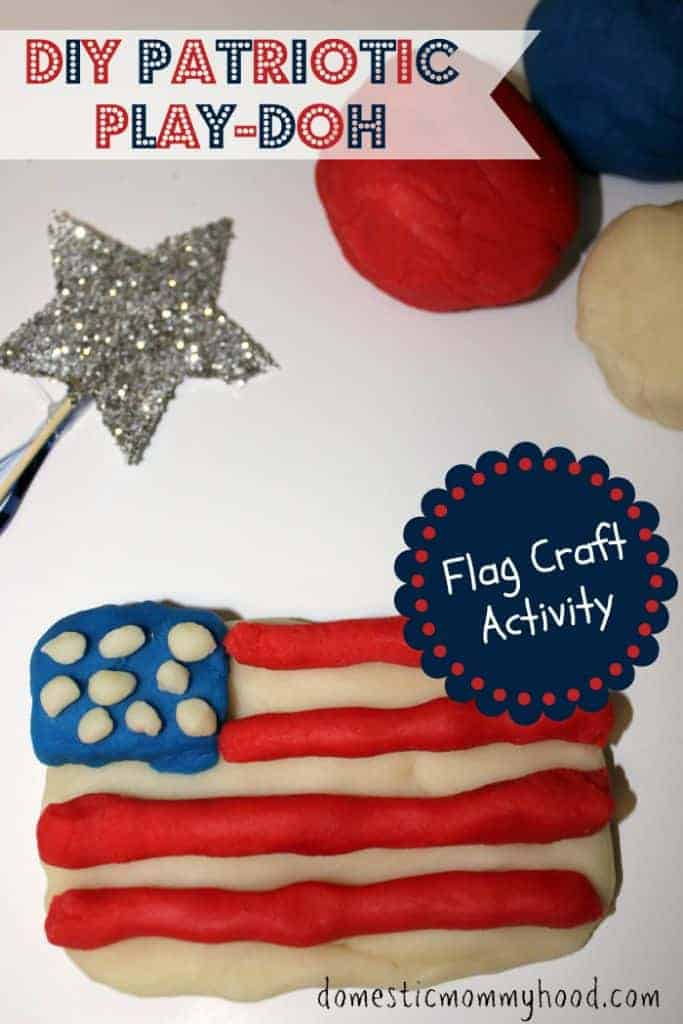 patriotic-play-doh Labor Day Crafts for Kids