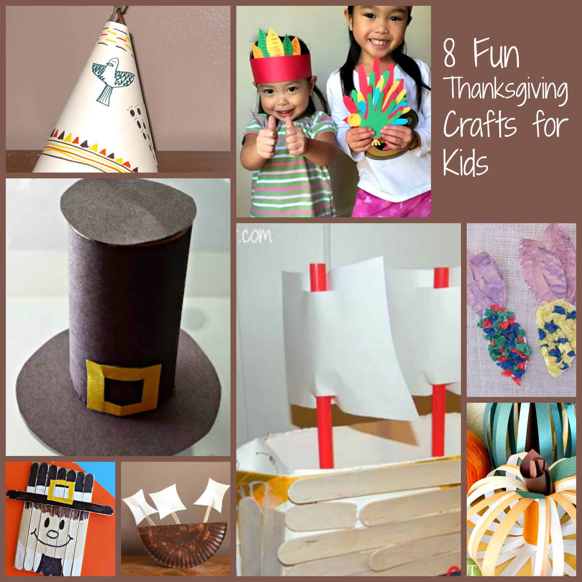 Looking for non-turkey Thanksgiving crafts for kids? We heard your pleas and rounded up 8 adorable ideas! Check them out and getting crafty!