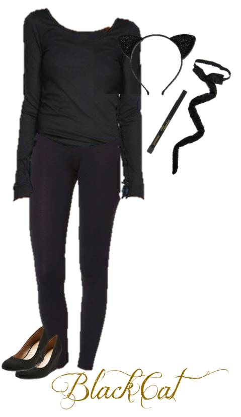 Quick Black Cat Halloween Costume Anyone Can Make From Their Closet