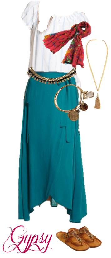 Quick Gypsy Halloween Costume Anyone Can Make From Their Closet