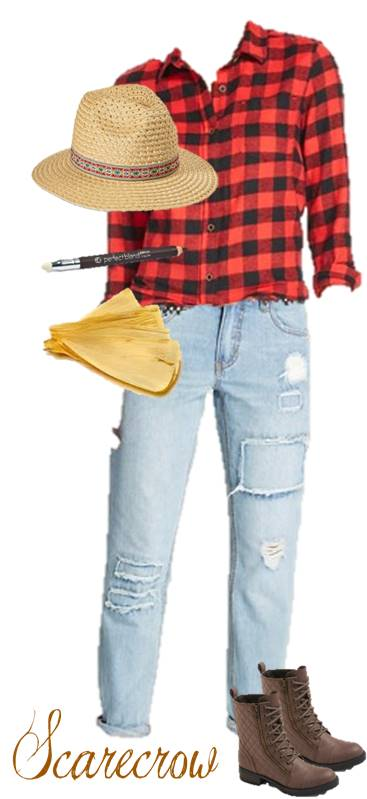 Quick Scarecrow Halloween Costume Anyone Can Make From Their Closet