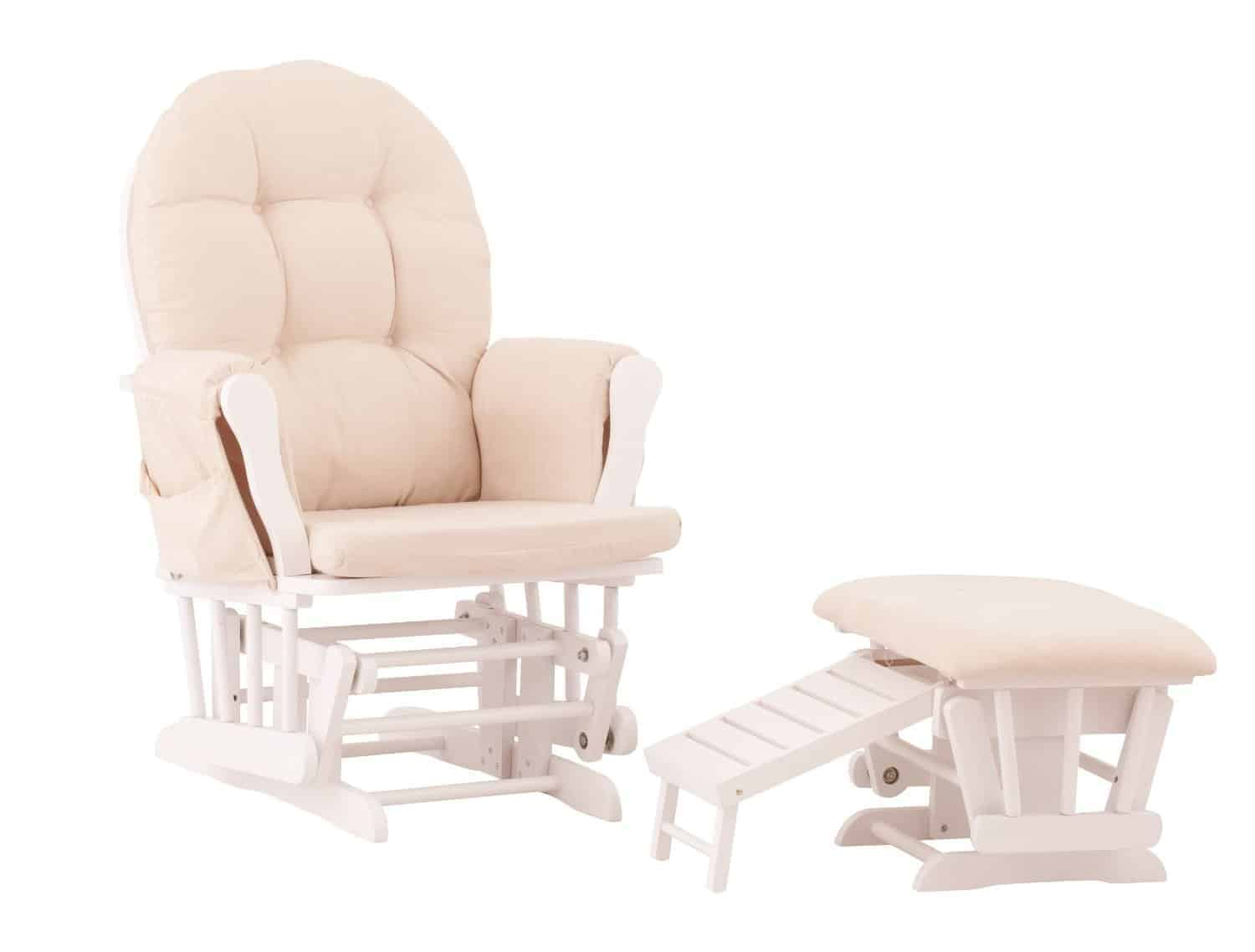 Status Roma Glider and Nursing Ottoman Best Rocking Chairs for Your Nursery