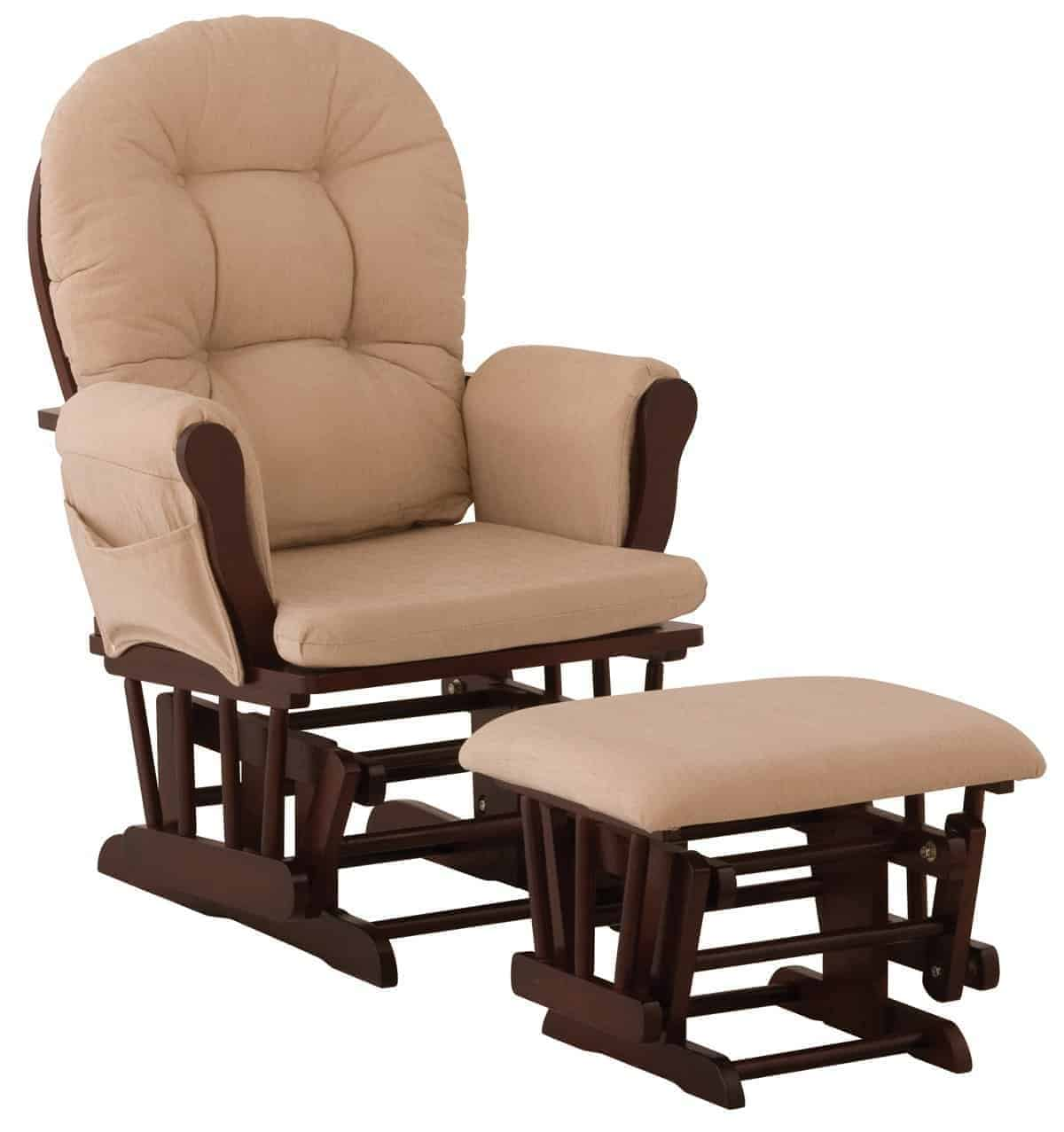 Stork Craft Hoop Glider and Ottoman Set Best Rocking Chairs for Your Nursery