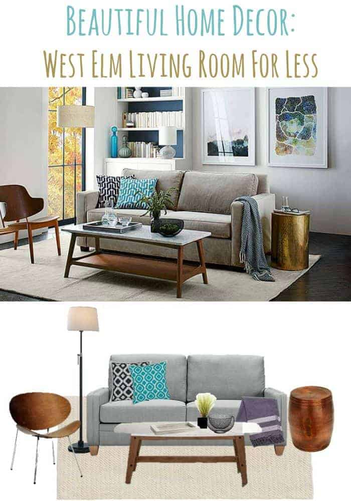 My Home Decor Guide: Beautiful Home Decor Ideas: West Elm Living Room For Less