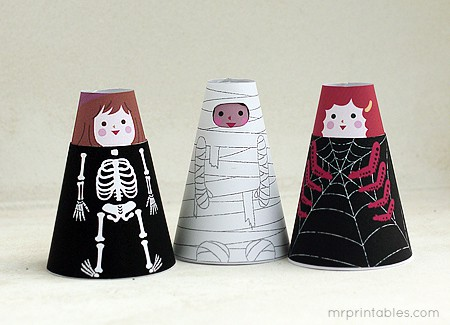 cone girls Halloween Crafts For Kids