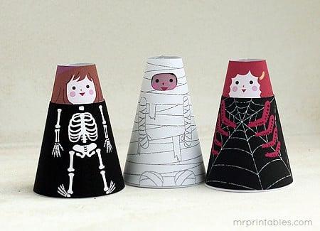 cone girls Halloween Crafts For Kids