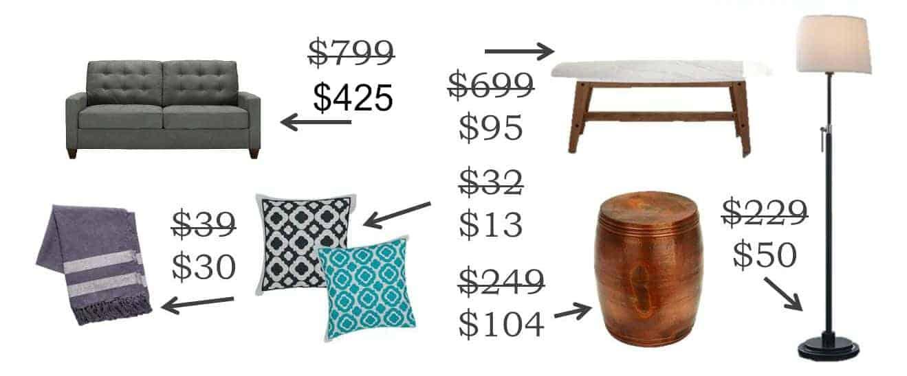 west elm living room home decor budget