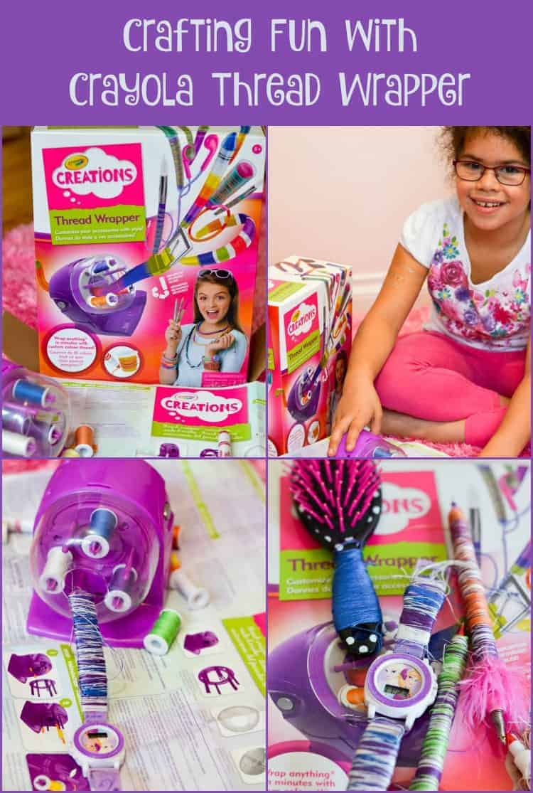 Looking for a great gift idea for girls? Check out my review of the new Crayola Creations Thread Wrapper and see how much fun my daughter had with it! It's the perfect holiday gift for girls who love to craft!