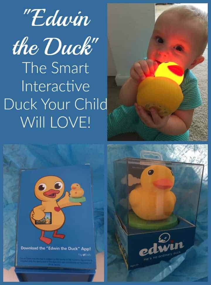 Meet Edwin the Duck, the smartest rubber ducky ever. He's interactive and fun for little ones, yet still safe for the bath! Check out our review!