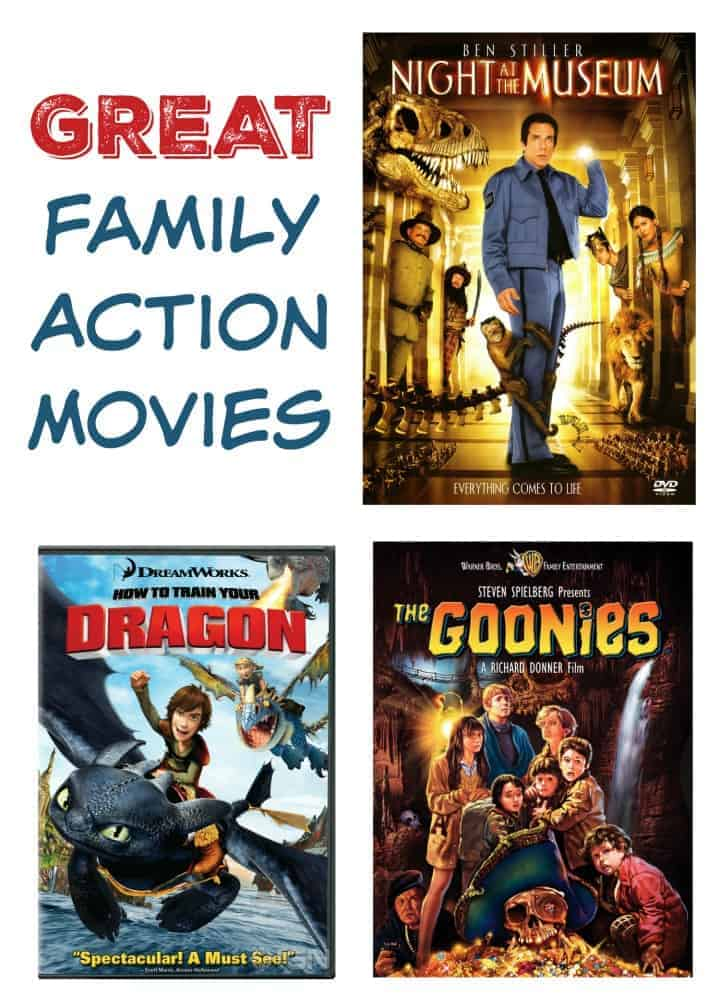 Looking for good family action movies to watch together on your next family movie night? Check out our favorites that everyone will love!