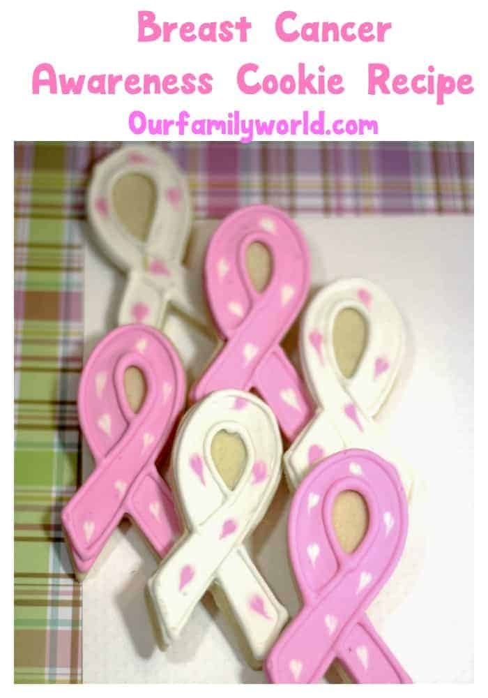 Help your loved one through a hard time or raise funds to support the cause with this pretty pink ribbon breast cancer support cookie recipe.