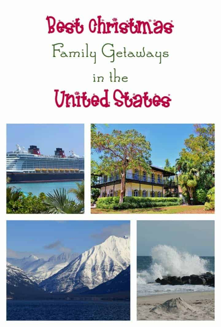 Skip the cooking & cleaning this year! Head out of town instead and go on one of these best Christmas family getaways in the United States!
