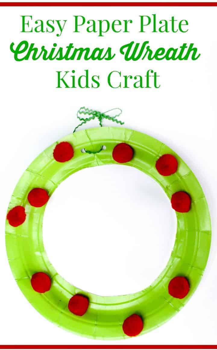 Looking for a fun Christmas craft for kids? This paper plate wreath is so easy, even a toddler could make it with a little help from you! Check it out!