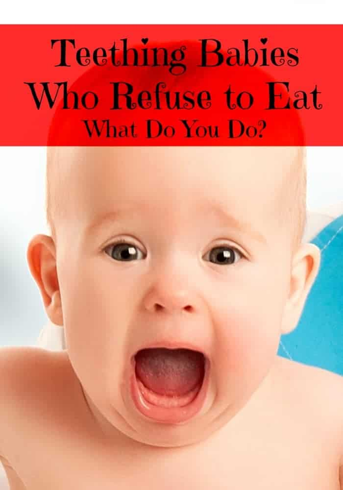 What do you do when you're dealing with teething babies who refuse to eat? Check out our tips for getting past this rough patch in your baby's life!