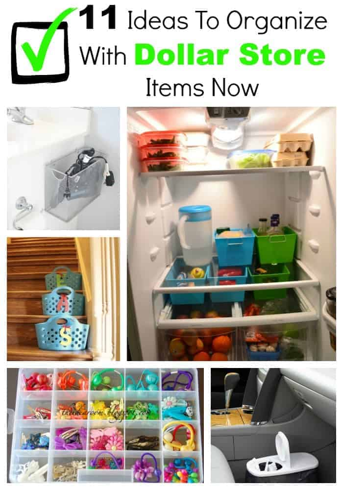 11 ideas to organize with dollar store items now our for Dollar store items online