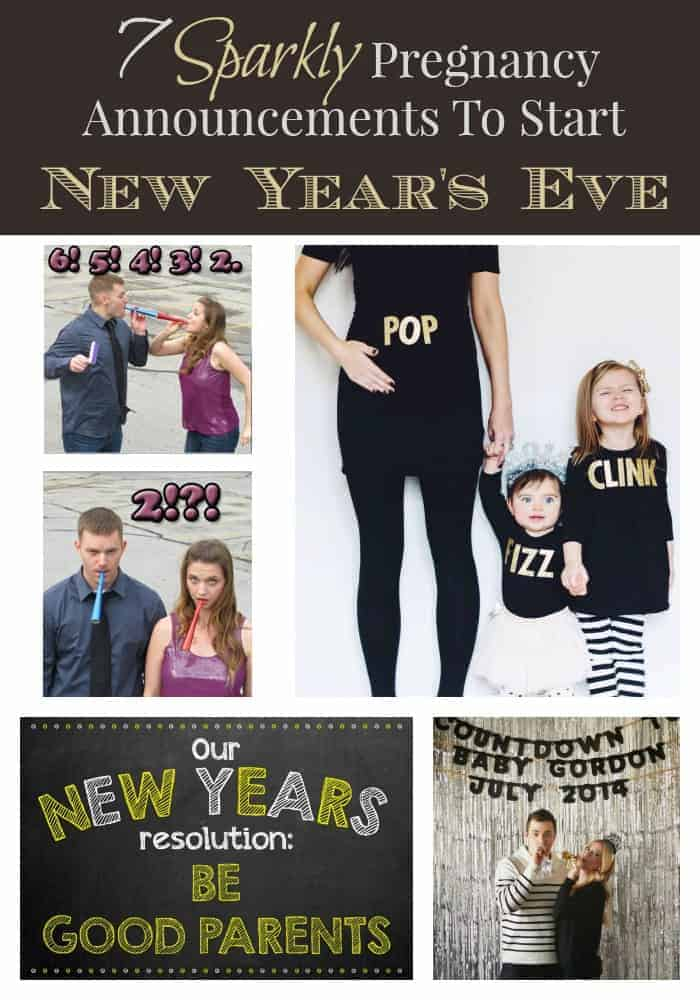 Looking for a pregnancy announcement idea for New Year's Eve? We have a great list of ideas that will start the year with a pop!