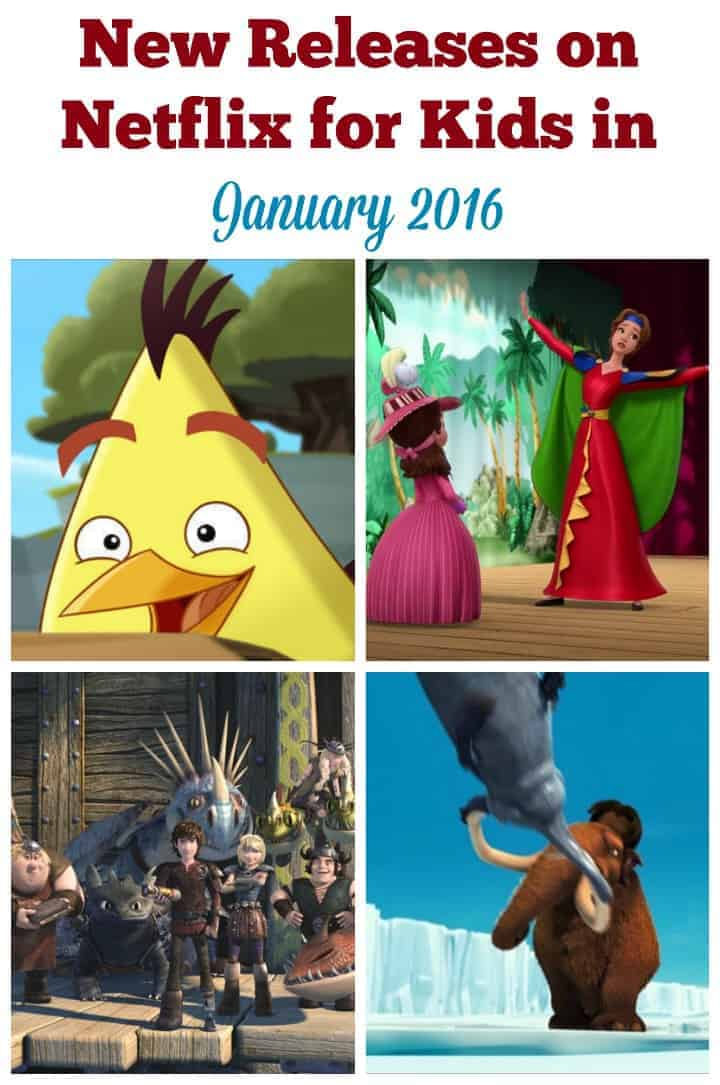 Netflix is bringing on some great movies and televisions shows in January. With Season 2 of Angry Birds Toons, Ice Age: The Meltdown and Season 2 of Sofia the First, there is certainly a movie and/or television show for your child. Here are the new releases on Netflix for kids in January 2016.