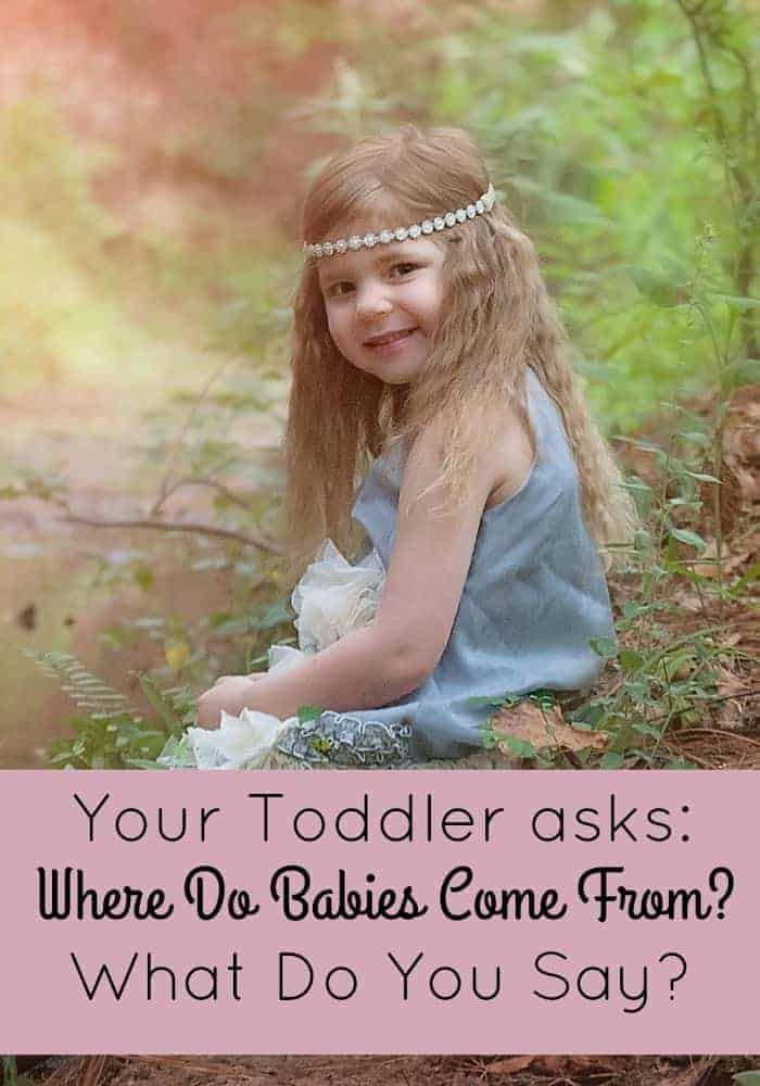"Your toddler asks, ""Where do babies come from?"" what do you say? Check out our parenting tips for answering this question in an age-appropriate manner!"