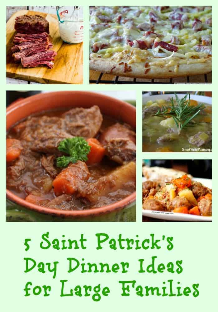 Looking for St. Patrick's Day meals for large families that your family will absolutely love? We've got you covered! Check out 5 of our favorite large healthy meals for the holiday!