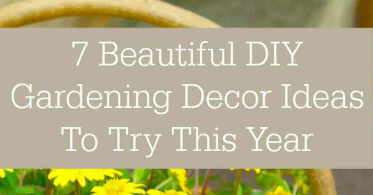 Create your own backyard retreat with our sweet DIY gardening decor ideas. These ideas will brighten up any greenspace, you gotta check them out