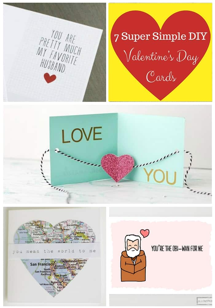 7 Super Simple DIY Valentines Day Cards Our Family World – Pretty Valentines Cards