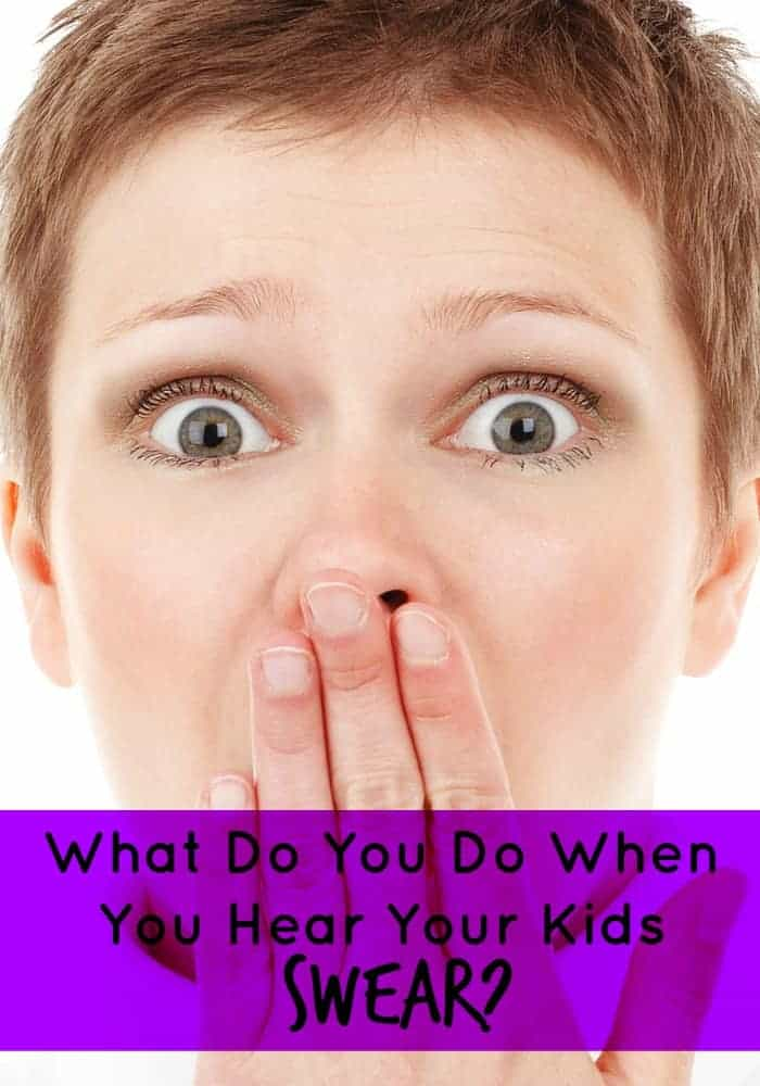 What do you do when you hear your kids swear?  They are like little sponges, soaking up every little thing they hear, including the bad words.