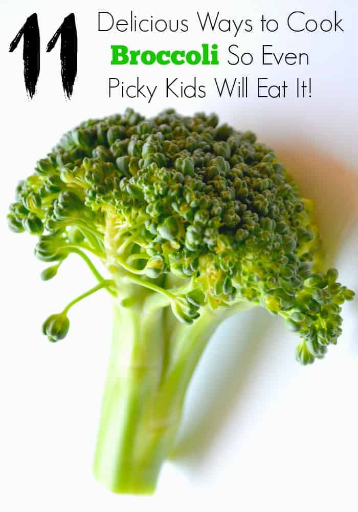The struggle is real to get my picky kid to eat broccoli and I had to get creative. Check out my 11 delicious ways to cook broccoli so your kid will eat it!