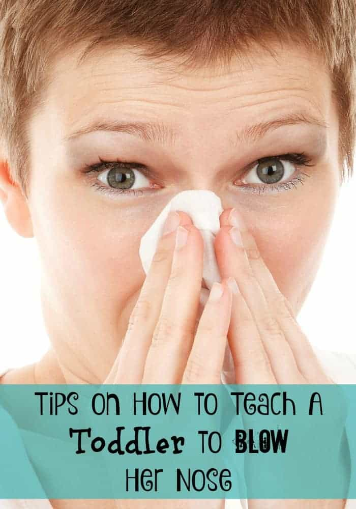 Tips on how to teach a toddler to blow her nose is one of those things they don't give you in the parenting manual. I managed to come up with a few on my own.
