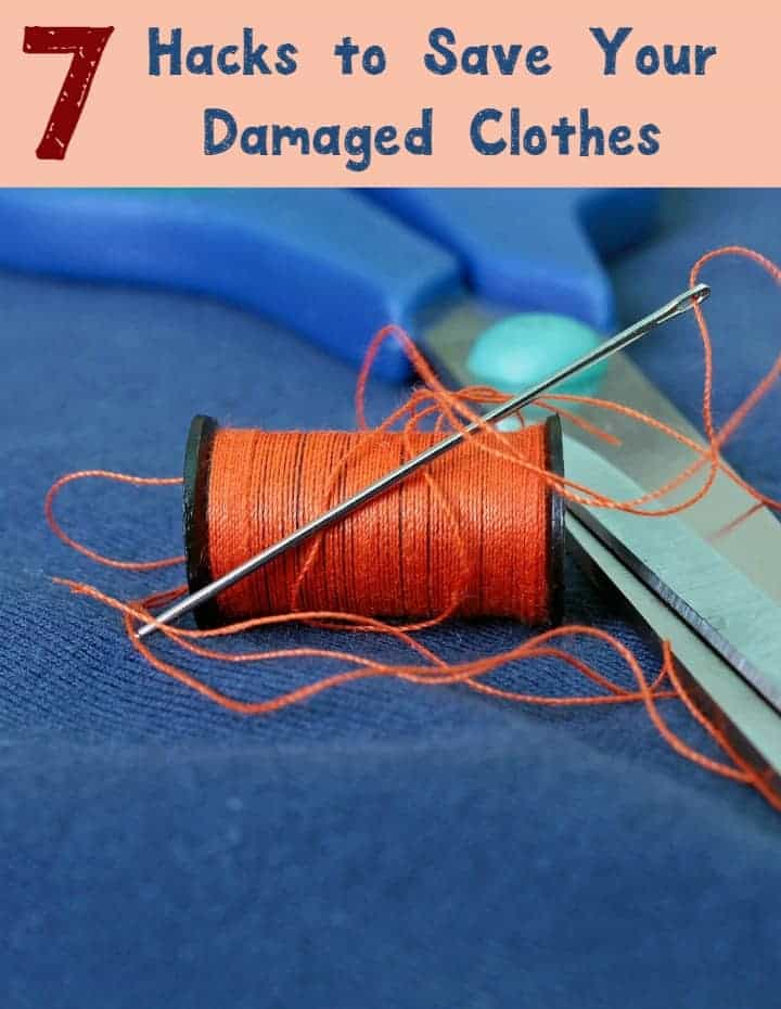 My favorite organizing hacks are the type that don't just save me money but also save some of my favorite things, like damaged clothes! Check out 7 great ways to save that beloved sweater or comfy pair of jeans from the