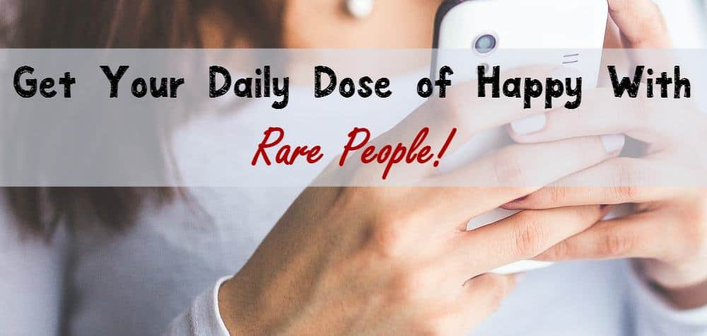 Find adorable online videos, keep up with news and get your daily dose of happy at Rare People! Check it out!