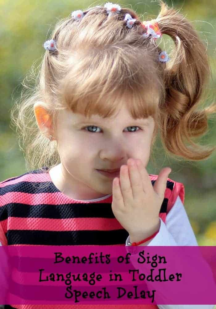 Are there benefits of sign language in toddlers with a speech delay? Kids don't really start to speak until about 2 years old. Check out these benefits.