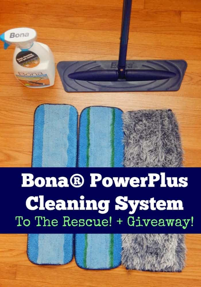 The floor isn't going to clean itself, but it can be cleaned quick! Check out the Bona PowerPlus Cleaning Kit to the rescue plus a great sweepstakes!