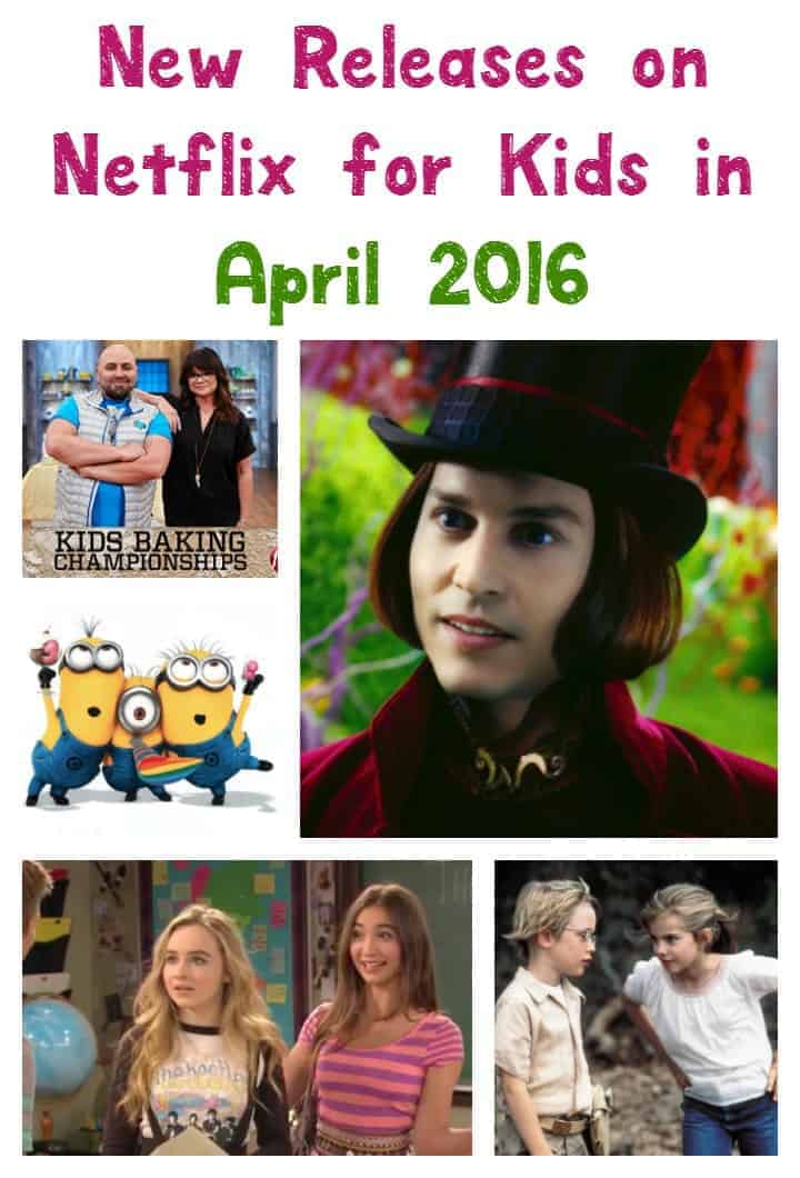 Get ready for some awesome new releases on Netflix for kids in April 2016! From kids baking shows to Minions and more, there's always something on Netflix!