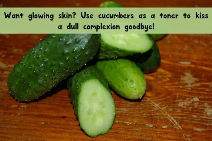 Get glowing skin by using cucumber as a toner! Check out this tip and more beauty uses for cucumbers!