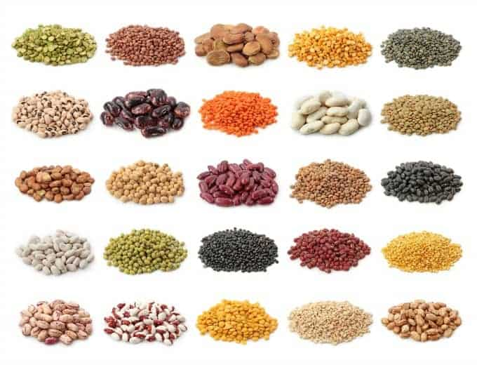 pulses include dried peas, soybeans and peanuts. Pulses are part of the legume family, which is why you see so much crossover between them!