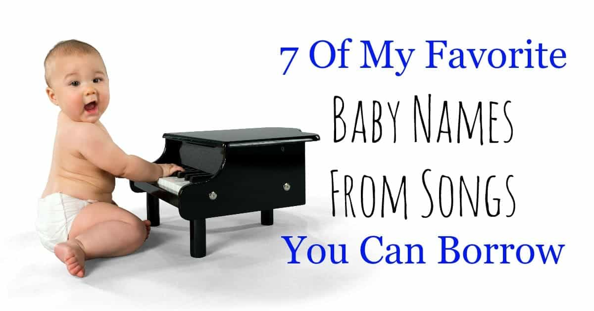 Some of the best baby names from songs are on my list! If you need a little inspiration, I'm sharing my super-secret musical baby names that are my favs.