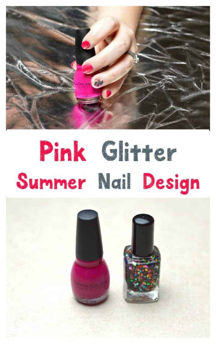 pink-glitter-nails-designs