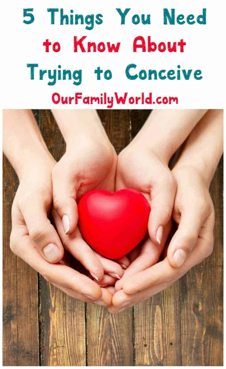 "Trying to conceive. Three words that, for most couples, really aren't that daunting. You try, you conceive. For couples dealing with infertility, however, ""trying to conceive"" becomes a lifestyle. How do you get through it? Check out these 5 things every couple needs to know about trying to start a family."