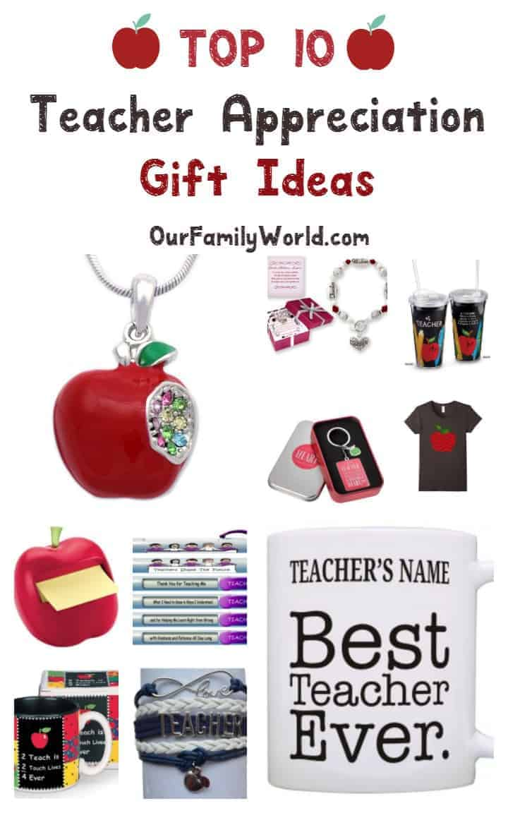 Looking for fabulous teacher appreciation gift ideas for the end of the year? Check out these top 10 ideas that any teacher would absolutely love!