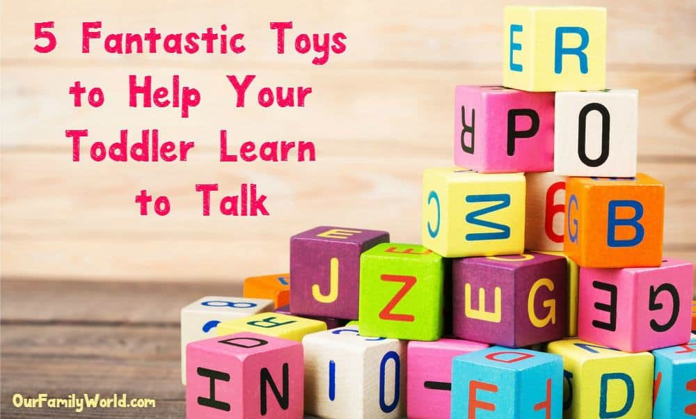 Looking for toys that help you teach your toddler to speak? We've got you covered! We all want to hear that first word from our sweet little cherubs (in a few years you will be longing for those 'quiet' days). On a more serious note, it is really exciting when your toddler learns new words and remembers them. There are toys out there that will help you to teach him how to talk! You can go high-tech or simple, the key is the interaction you have while using the toys. Check out our 5 toys that help you teach your toddler to speak.